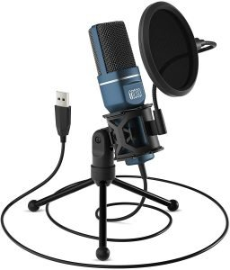 TONOR Computer Condenser USB Gaming Microphone with Tripod Stand